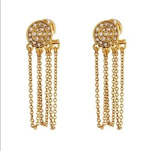 Luv AJ Cosmic coin chain stud earrings
